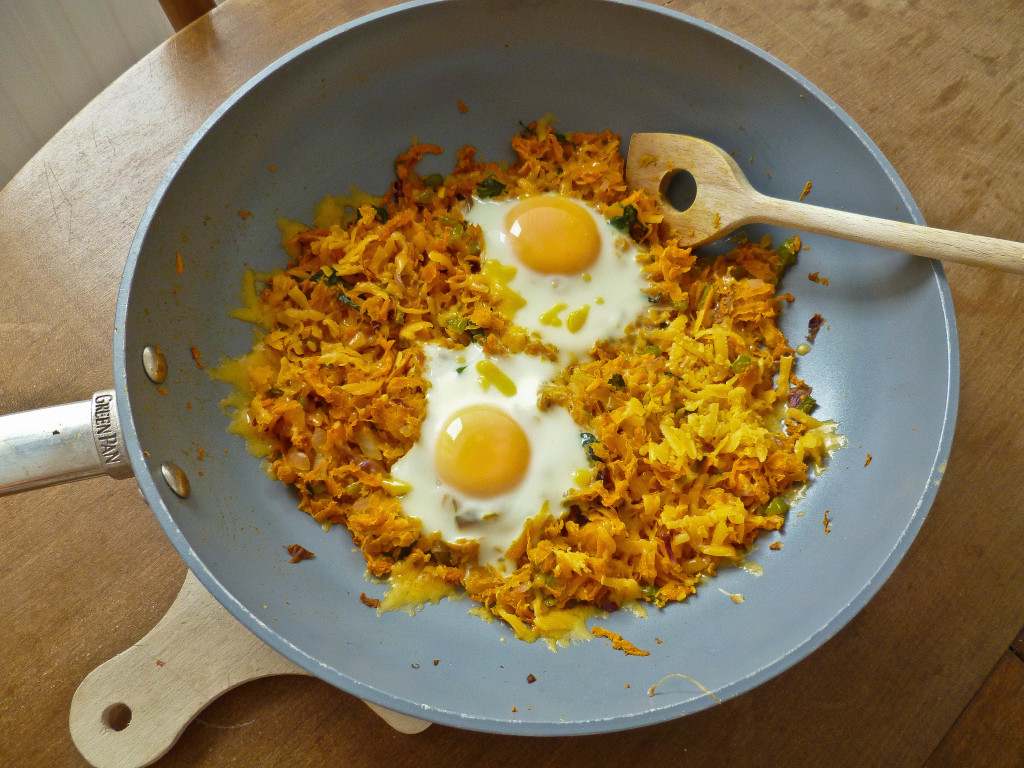... with eggs and cooked in the oven for a perfect one-pan breakfast dish