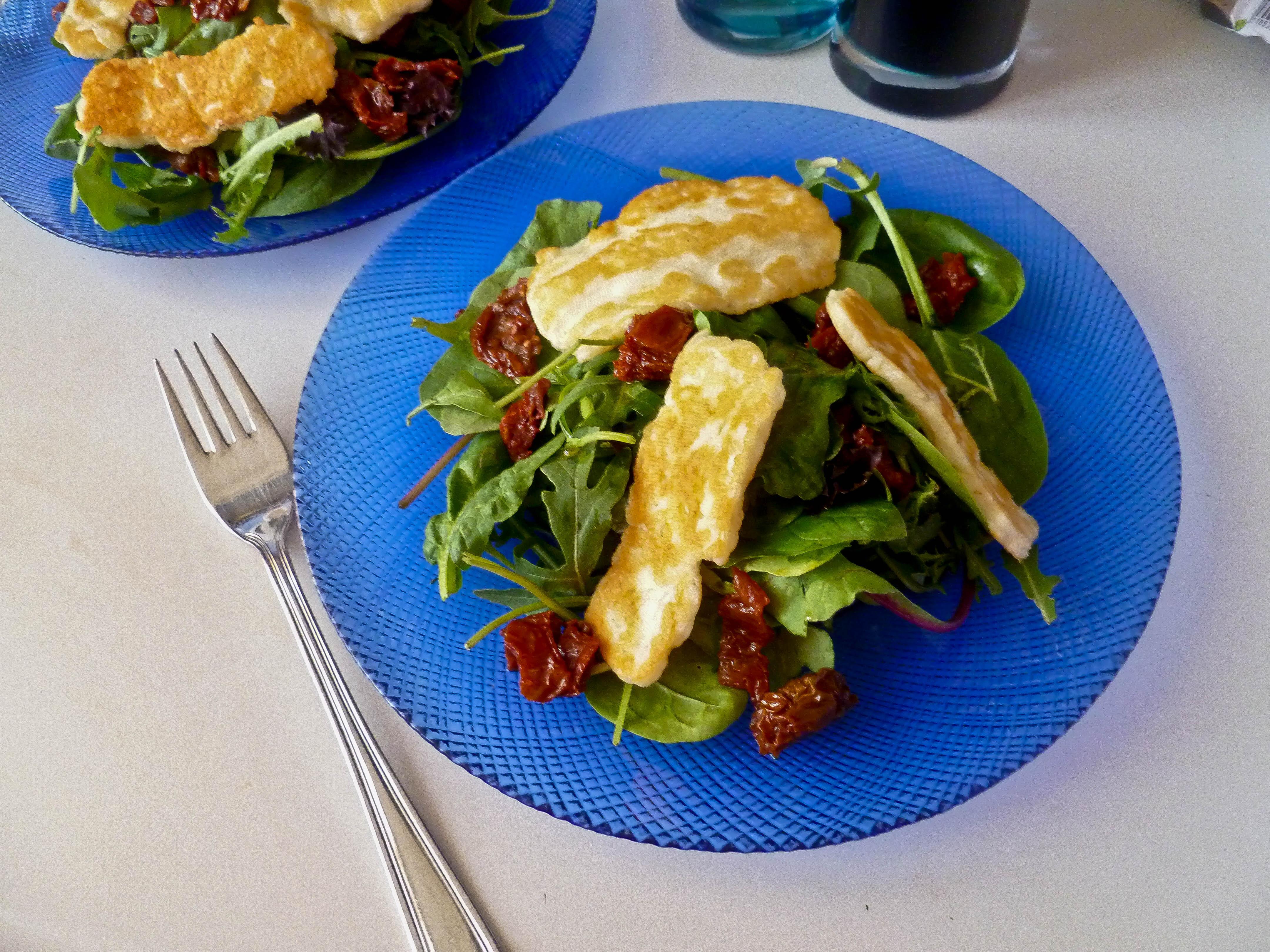 Pan-Fried Halloumi Salad