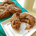 Caramel Filled Chocolate Gingerbread Cookies (Speculaas)
