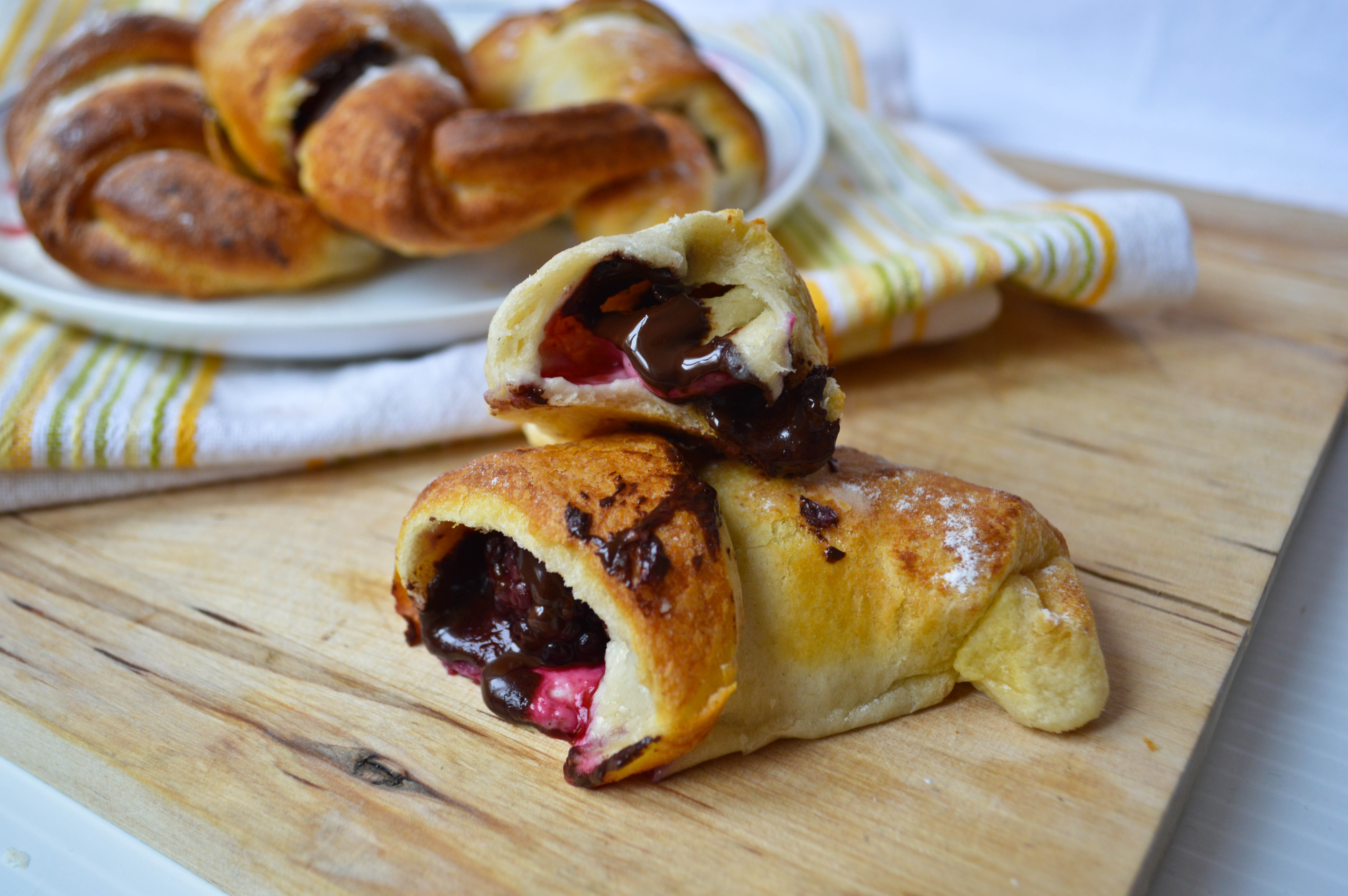 Chocolate Berry Croissants | Confused Julia