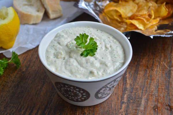 Easy Low Fat Artichoke Dip | Hungry and Confused