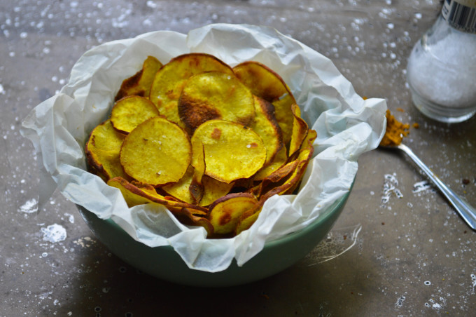 Curried Sweet Potato Chips Recipe