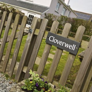 Cloverwell Devon cottage sign