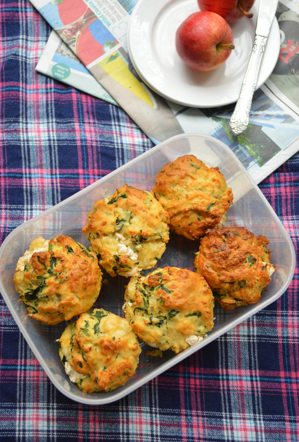 Savoury Muffins with a Cream Cheese Centre
