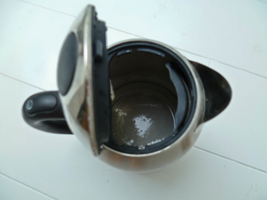 Inside Electric Kettle ~ How to descale a kettle confused julia